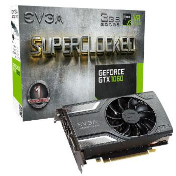 EVGA GeForce GTX 1060 SC Gaming 3 Go