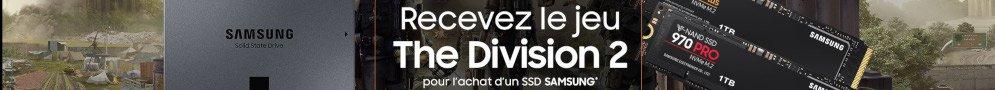 The Division 2 offert pour l'achat d'un ssd Samsung