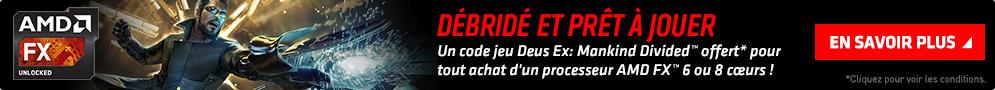 Deus Ex : Mankind Divided offert pour l'achat d'un CPU AMD