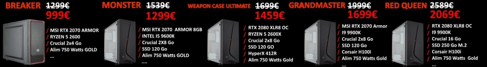 4 PC Gamer Ryzen en Promo !!!
