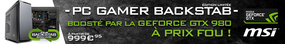 PC Gamer Blackstab avec GTX 980
