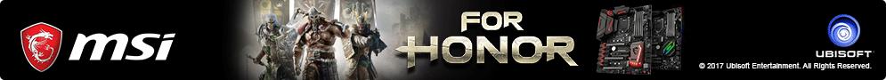 MSI offre le Jeu PC For Honor pour l'achat d'une carte mère éligible