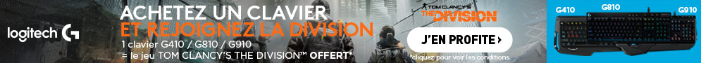TOM CLANCY'S THE DIVISION OFFERT AVEC LOGITECH