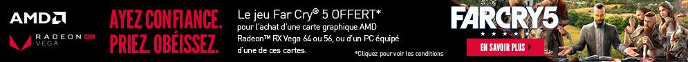 Jusqu'au 30 juin, AMD offre le jeu PC Far Cry 5 pour l'achat d'un PC ou carte graphique éligibles