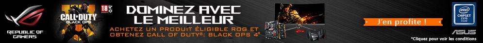 Jusqu'au 31/12/2018, Call of Duty Black Ops 4 Offert pour l'achat d'un produit Asus ROG éligible