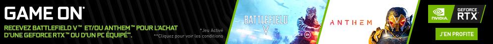 Jusqu'au 25/02/18, Anthem offert avec NVIDIA pour l'achat d'une carte graphique ou d'un PC en RTX