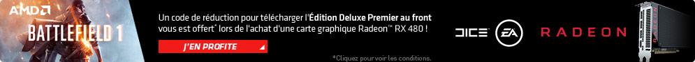 Jusqu'au 18 octobre, AMD offre la mise à jour du jeu Battlefield 1 en version Edition Deluxe