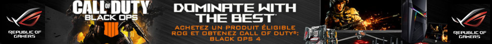 Black Ops 4 offert pour l'achat d'un produit Asus éligible