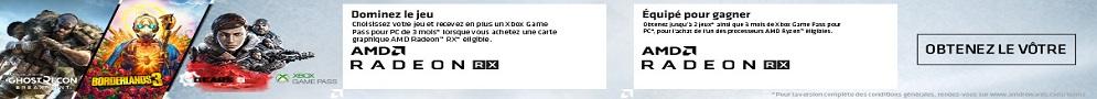 Offre Ryzen - Radeon : 3 mois xbox pass et jeux offerts