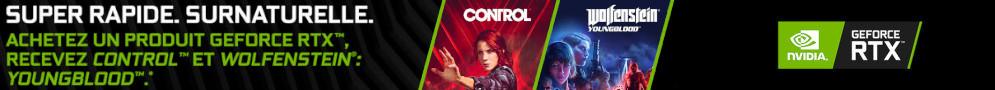 Control et Wolfenstein : Youngblood offert avec les RTX