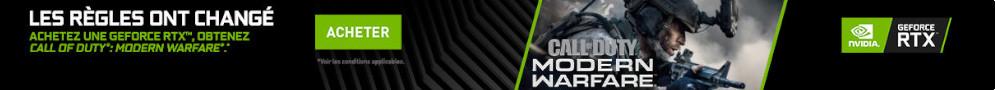 Call of duty : Modern Warfare offert pour l'achat d'une carte graphique Nvidia RTX
