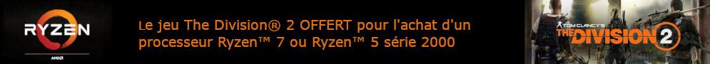 The Division 2 offert pour l'achat d'un Ryzen 2000