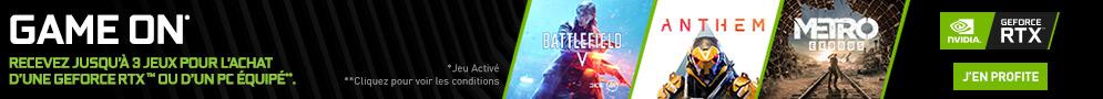 Jusqu'à 3 jeux offerts par Nvidia