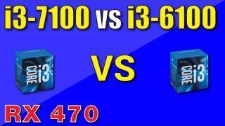 Intel i3-7100 vs i3-6100 Benchmark