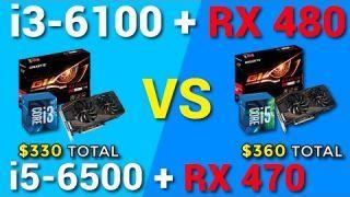 i3-6100 + RX 480 vs i5-6500 + RX 470 Benchmark
