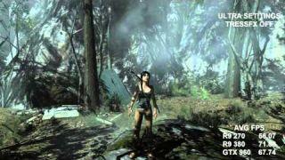 Tomb Raider R9 270 / R9 380 / GTX 960 1080p Benchmark