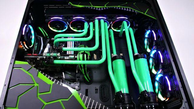 Project Envy - The BIGGEST Ultimate Custom Water Cooled PC Build - Time Lapse