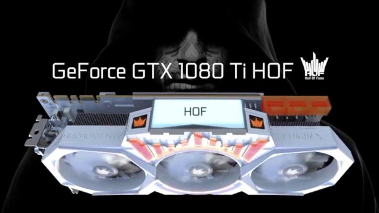 GALAX GeForce GTX 1080 Ti HOF LCD-Display