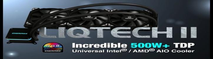 LIQTECH II, Addressable RGB AIO Liquid Cooler, Universal Intel/AMD Socket Compatibility
