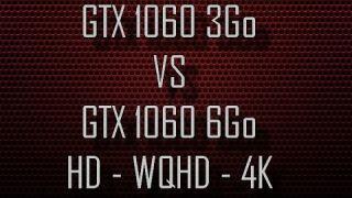 GTX 1060 3Go VS GTX 1060 6Go (HD-WQHD-4K) in 8 Games - Comparaison DX11 & DX12