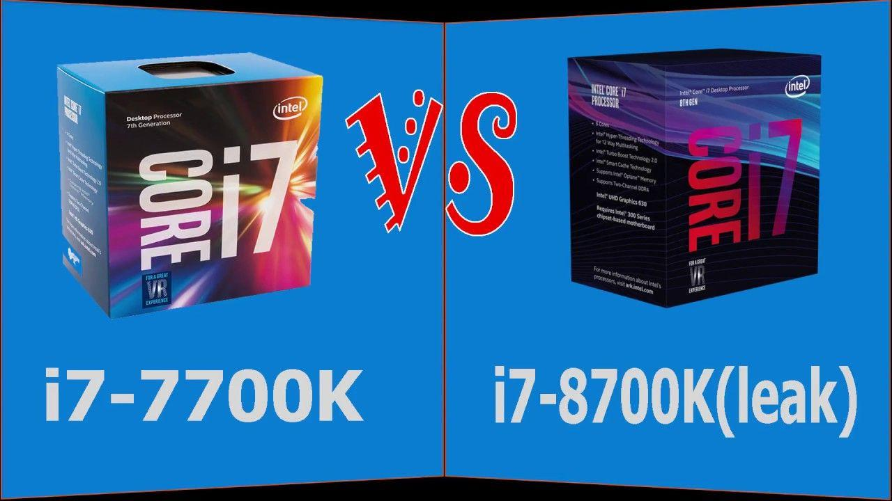 Intel Core i7-8700K (Leak) VS Core i7-7700K - Leak Coffee Lake Flagship Benchmarks