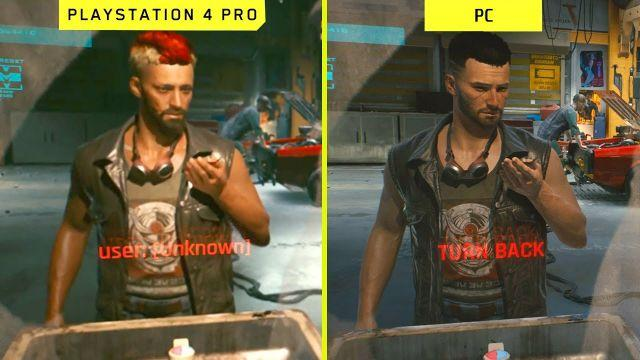 Cyberpunk 2077 PS4 Pro vs PC Early Graphics Comparison