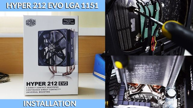 How to Install a Hyper 212 EVO on an LGA 1151 Intel Socket [TUTORIAL]