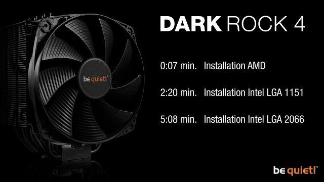 Installation: Dark Rock 4 (AMD & Intel) | be quiet!