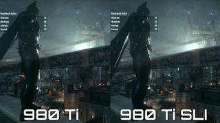 Batman Arkham Knight Ultra Benchmark | GTX 980 Ti SLI vs. Single 980 Ti