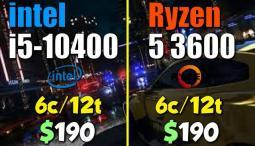 Ryzen 5 3600 vs. i5-10400 | Test in 8 Games