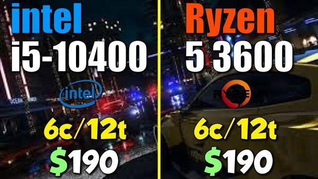 Ryzen 5 3600 vs. i5-10400 | Test in 8 Games