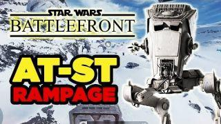 PC Ultra Settings: AT-ST Rampage - Star Wars Battlefront Beta Gameplay