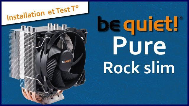Be Quiet pure rock slim VS Intel | Installation et test