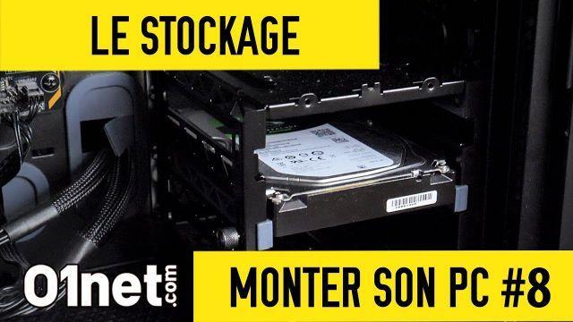 Installer les disques durs et le SSD - MONTER SON PC #8