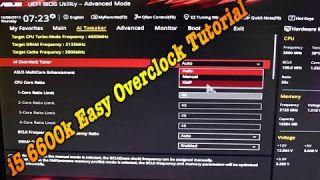 i5 6600K 4.6Ghz Easy OverClock Tutorial MoBo Asus Z170 ProGaming Corsair H100i