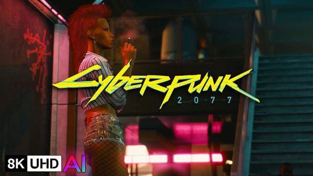 [8K AI] Cyberpunk 2077 Deep Dive Gameplay | Machine Learning AI Upscale