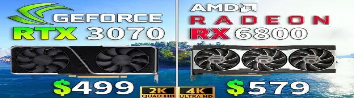 RX 6800 vs RTX 3070 // Test in 1440p and 4K