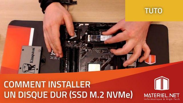 Installer un SSD M.2 NVMe | Tutoriel Materiel.net (2019)