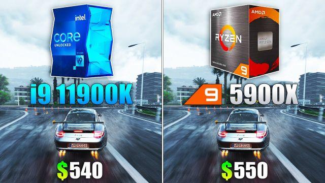 Core i9 11900K vs Ryzen 9 5900X - Test in 10 Games