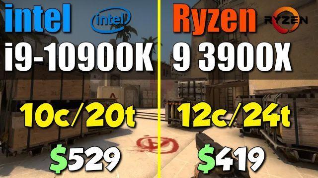 i9-10900K vs. Ryzen 9 3900X