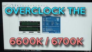 How To OVERCLOCK the i5-6600k / i7-6700k For Beginners
