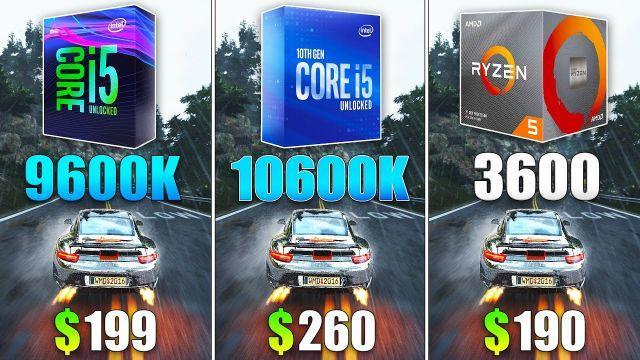 i5 10600K vs i5 9600K vs Ryzen 5 3600 Test in 9 Games