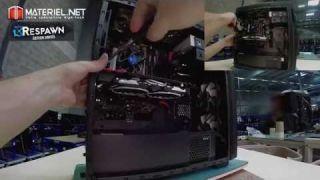 Montage du PC Gamer Respawn par Materiel.net (vidéo accélérée X4)