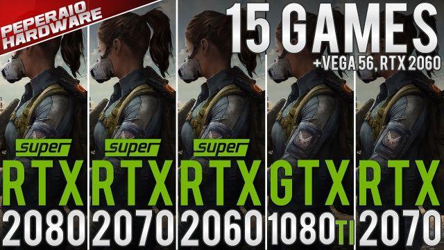RTX 2080 Super Benchmark vs RTX 2070 Super, RTX 2060s, GTX 1080 Ti, RTX 2070, RTX 2060 (1080p 1440p)