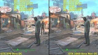 GTX 1060 Vs GTX 970 OC 1500MHz Fallout 4 Ultra Settings Frame Rate Comparison