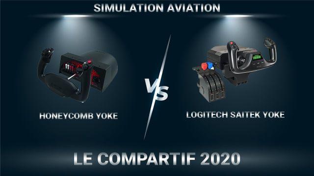 Comparatif Honeycomb Yoke VS Logitech Saitek Yoke