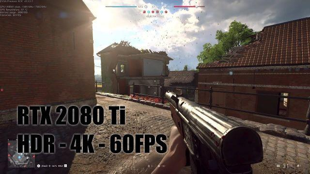 Battlefield V - HDR 4K Gaming - EVGA GeForce RTX 2080 Ti XC ULTRA