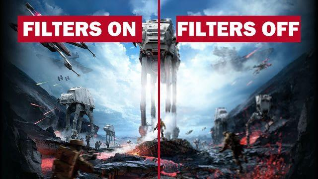 STAR WARS BATTLEFRONT 2 - PC 1080p COMPARAISON FILTRES + FPS