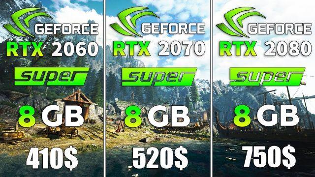 RTX 2060 SUPER vs RTX 2070 SUPER vs RTX 2080 SUPER