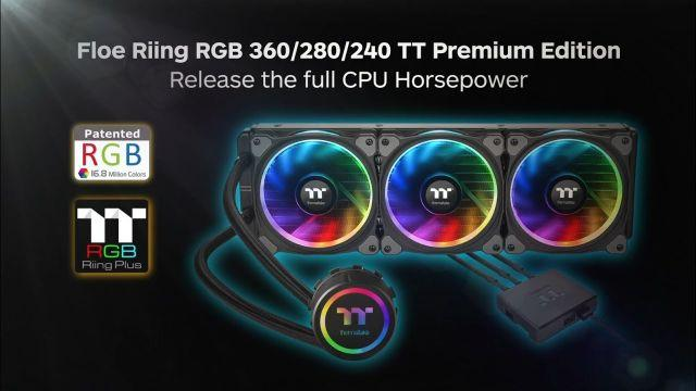 Thermaltake Floe Riing All-in-One RGB CPU Cooler TT Premium Edition